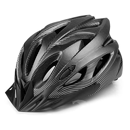 Adult Bike Helmet,Eco-Friendly Super Light Integrally Bike Helmet Adjustable Lightweight Mountain Road Bike Helmets for Men and Women (Black)