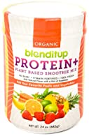 Organic Vegan Protein Powder - Plant Based Unflavored Smoothie Mix - Meal Replacement - Non Dairy, Gluten Free, Koshe...