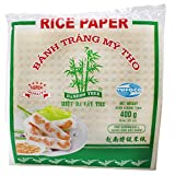 Bamboo tree papel de arroz (22cm). Úselo para rollitos de primavera y fácil de preparar. Calidad premium. Contenido: 1 x 400 gr.