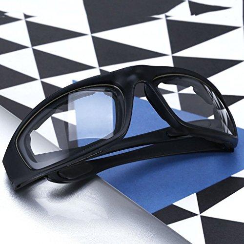 Motorradbrille Schutzbrille Fahrradbrille Radsportbrille Skibrille mit UV400 Outdoor Schutz für Damen und Herren Sonnenüberbrille Autofahren Laufen Radfahren Angeln transparent By Yxaomit - 4