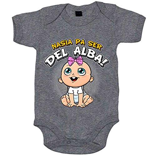 Body bebé nacida para ser del Alba Albacete fútbol - Gris, 6-12 meses