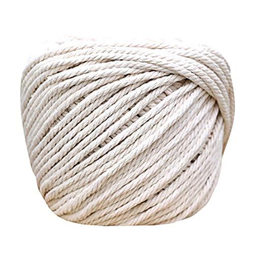 Corda de algodão 100% natural trançada Zwbfu feita à mão, material de arte feito à mão, corda de tecido faça você mesmo, 3 diâmetros, 2 mm, 3 mm, 4 mm, 5 mm, 0,1 polegada, 0,3 mm, 4 mm, vários comprim