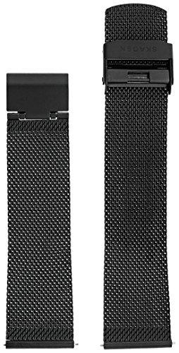Skagen 22mm Stainless Steel Mesh Watch Strap, Color: Black (Model: SKB6068)
