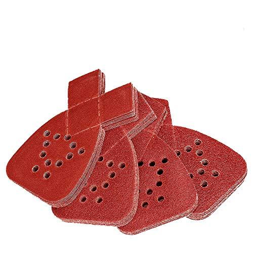 40 Stück Schleifpads für Black and Decker Detail Palm Schleifblätter sortiert 40/60/80/120/240 Körnung feines Schleifpapier für Holz Wand oder Metall r#YXSZ 12K