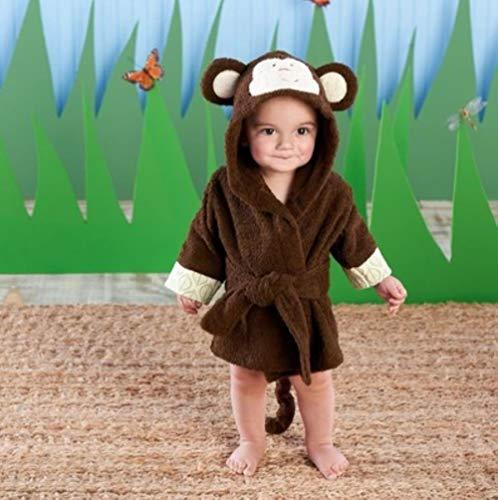 JDSKM 37 segni Cappuccio Modifica Animali Accappatoio per Bambini/Cartone Animato Baby Spa Tow/Personaggio Accappatoio per Bambini/rimorchi da Spiaggia per Neonati, Scimmia