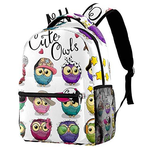 Mochila con diseño de búho peludo, mochila de viaje informal para mujeres, adolescentes, niñas y niños