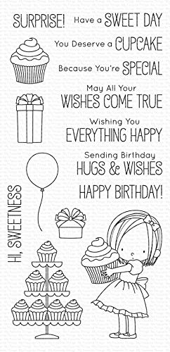 """My Favorite Things Birdie Brown Stamps 4""""X8""""-Sweet Birthday Wishes"""
