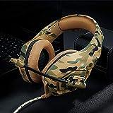 Headset Für PS4,Gaming Headset Für PC, Xbox One,Switch, Laptop, Mit Surround Sound 50MM Treiber Und Rauschunterdrückung Mikrofon,Camouflageyellow