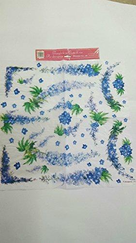 Tovagliolo in carta di riso 50×50 cm 14g Decoupage DFT112 Fiori