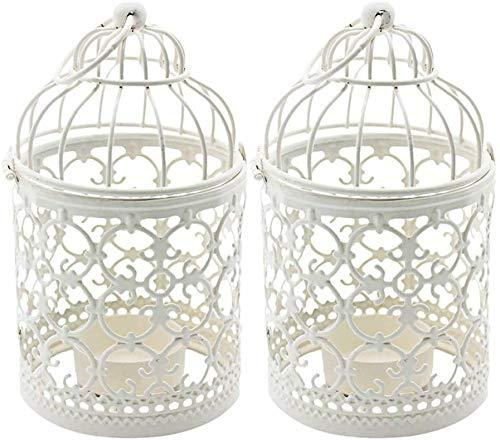 HOOM Candelabro con Forma de Jaula de pájaros, candelabros de Metal Vintage con Forma de Jaula de pájaros, candelabros para Boda, hogar, decoración de Mesa, Regalo de Fiestas de cumpleaños (Bl