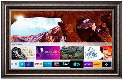 Framed Mirror TV with Samsung 43 inch 4K Ultra HD HDR Smart LED TV TVPlus. Gun Metal Frame