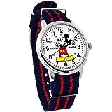 ディズニー ミッキーマウス ウォッチ ベルト ネイビーレッド 付け替え可能 ディズニー 腕時計 メンズ レディース キッズ WATCH Disney ミッキー 手が回る 時計 NATO ナトー ディズニー 腕時計 ミッキー [並行輸入品]