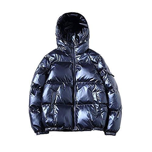 MCSZG Nuevo 2019 Chaqueta de plumón para Mujer Invierno Brillante Plata/Negro/Oro/Azul Tallas Grandes Parka con Capucha Outwear Abrigos Acolchados Mujer4XL 5XL