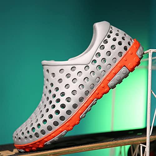 Zapatos de agua para verano, transpirables, sandalias de playa, para hombre, mujer, con ventilación, zapatillas de goma antideslizantes para vacaciones de río, mar (color gris, talla de zapato: 39)