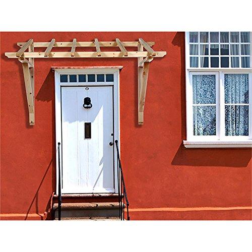 Melko Vordach 2050 mm Holz Pultvordach Haustür Tür Überdachung Holzvordach