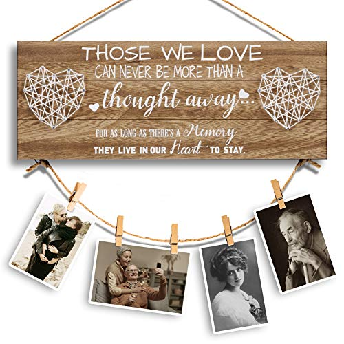 Tuobsm Memorial Picture Hanging Board, Sympathy Gifts for Loss of...