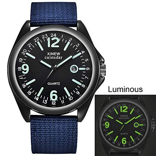 2020 Spring Deals ! Mens Quartz Watch Black Dial Date Luxury Sport Wrist Watch Under 5 Best Gifts for Lovers
