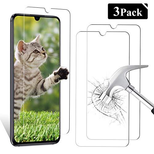 YIEASY Protector de Pantalla para Xiaomi Mi 9 Lite, [3 Pack] Cristal Templado Vidrio Templado Transparente, [3D Touch Compatible] [9H Dureza] Fácil Instalación y Sin Burbuja
