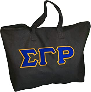 Sigma Gamma Rho Lettered Tote Bag Black