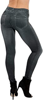 2018 Women's Denim Leggings,Pocket Slim Fitness Plus Size Pants Length Jeans by-NEWONESUN