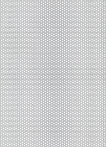 GAH-ALBERTS 466992 - Chapa perforada - agujero redondo, aluminio anodizado color plata, 250 X 500 X 0,8 Mm