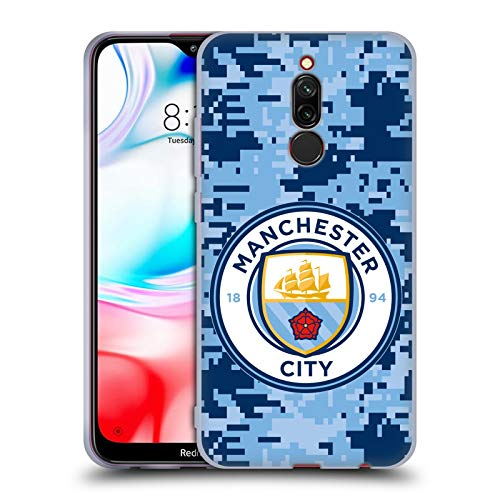Head Case Designs Oficial Manchester City Man City FC Brick Bluemoon Camuflaje Digital Carcasa de Gel de Silicona Compatible con Xiaomi Redmi 8