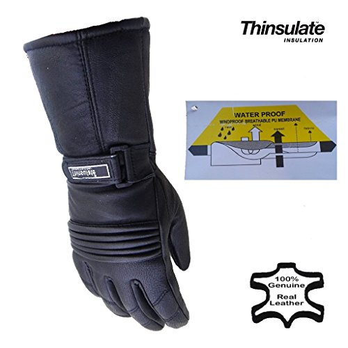 Australian Bikers Gear guantes para moto Thinsulate en color Negro en talla XL