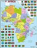 Larsen K13 Mapa político de África, edición en Inglés, Puzzle de Marco con 70 Piezas