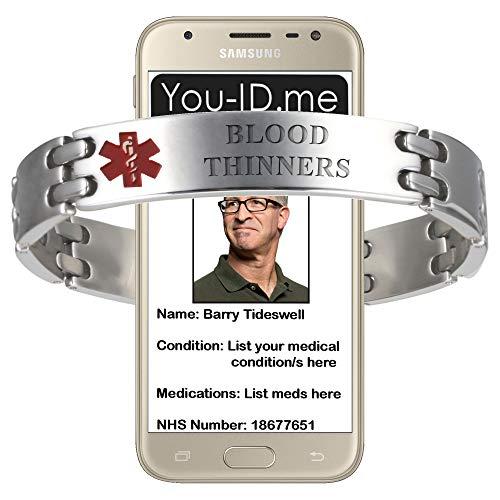 Ahead Solutions medische waarschuwingsarmband, medische waarschuwingsarmband, medische armband mannen, nood-ID