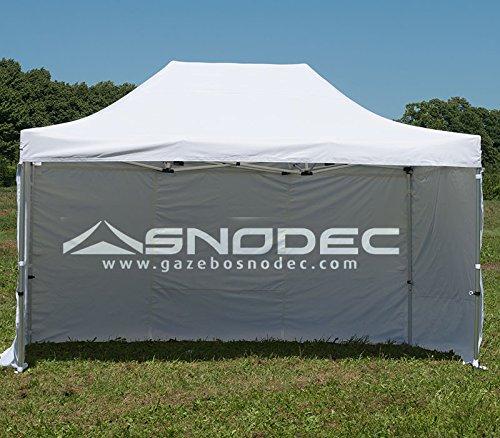 SNODEC Gazebo RAPIDO 3x4.5 Bianco in Acciaio 30mm+ Laterali. Impermeabile 100% GARANTITO