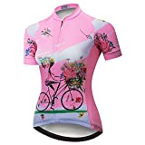 Weimostar Women's Cycling Jersey Short Sleeve Shirt Mountain Bike Jersey Bicycle Clothing Quick Dry Pink Girl...