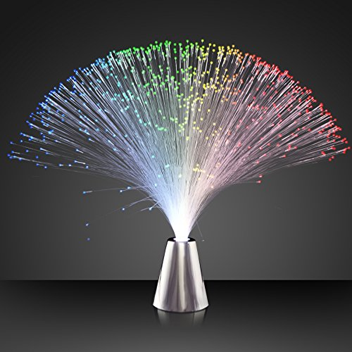 Light Up Fiber Optic Party Centerpieces with Color Changing LED Lights (Set of 12)