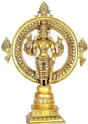 Shri Ganesha Ritual Spoon with Peacock Pair Brass Sculpture