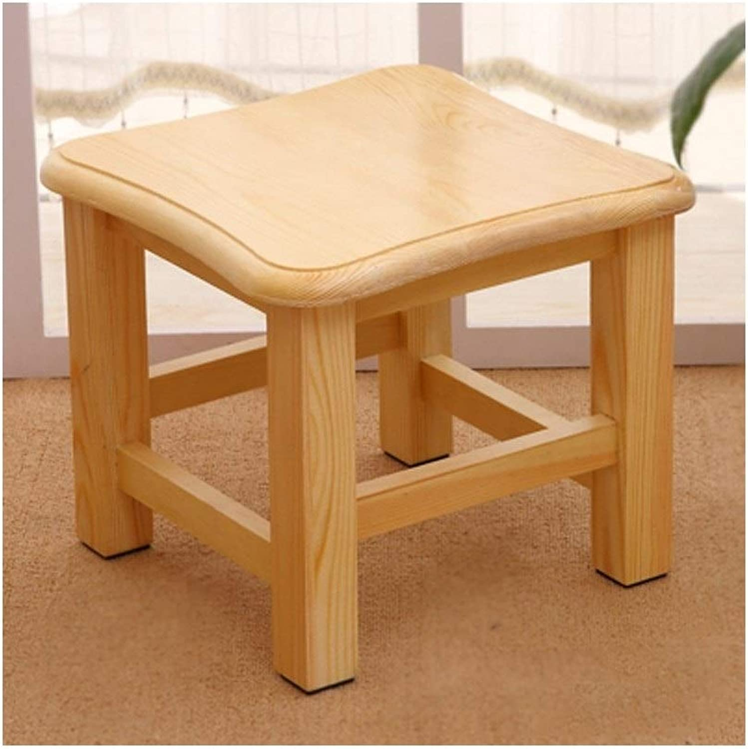 European Chair shoes Bench Vintage Creative Small Stool Simple Home Solid Wood Stool (color   D)