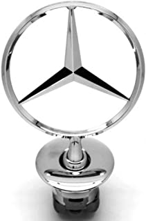 Vehicle Hood Star Emblem Badge For Mercedes Benz (Chrome)