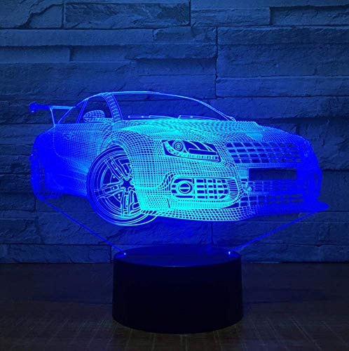 Voiture 3D USB LED Night Light 7 couleurs Illusion Lamp Touch ou Control Kids Bedroom Lamp Worldwide
