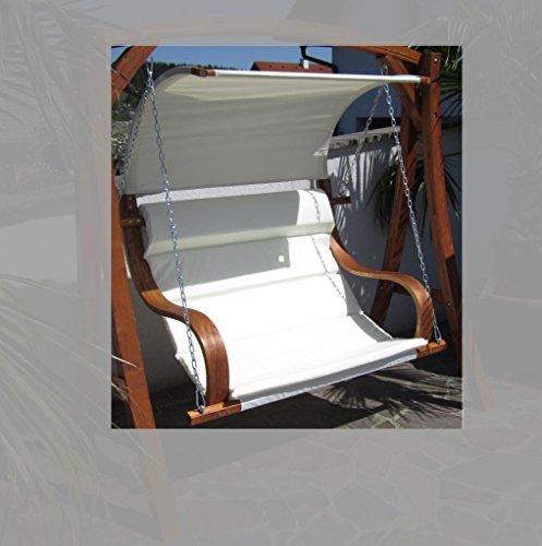 ASS Design Sitzbank für Hollywoodschaukel SEAT-MERU aus Holz Lärche inkl. Dach (ohne Gestell!!) von - 4