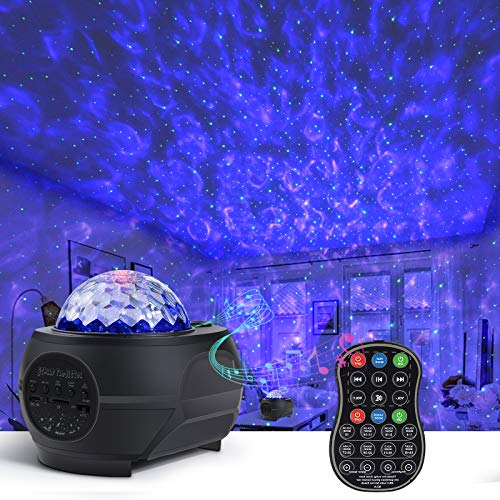 Star Projector Night Light,Galaxy Globe Projector with Bluetooth Speaker Timer Remote Control,15 Colors Music Starry Projector with Nebula Cloud for Baby Kids Bedroom/Game Room/Home Theatre