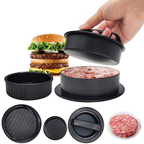 JJYHEHOT 3 in 1 Burgerpresse Patty Presse, Antihaft und leicht zu reinigen Burgerpresse Patty Maker