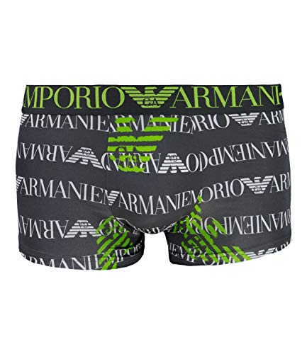 Emporio Armani Boxershort Boxer Microfiber Trunk 9P536-111290, Farbe:Grau, Wäschegröße:S, Artikel:-21144 Printed Anthracite