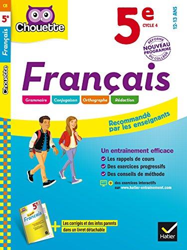 Français 5e: cahier d'entraînement et de révision