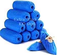 Shoe Covers Disposable Non Slip -100 Pcs (50 Pairs) 400g Durable Thickened Disposable Boot & Shoe Covers for Indoor Carpet Floor Protection, Non Woven Fabric Shoe Covers, One Size Fits All