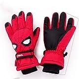 Kinder Winter Spider-Man Kinderhandschuhe Winter Plus Plus Dicke Baby Ski Handschuhe wasserdicht E-Zigaretten Fünf Finger Jungen Handschuhe Winter HM70047 Großrot