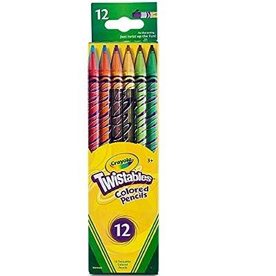 Crayola Twistables Colored Pencils, 12 Count, Assorted Colors by Crayola