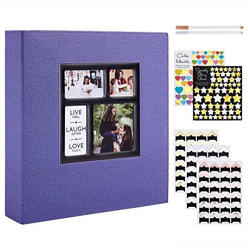 Benjia Álbum de fotos autoadhesivo, tamaño XXL, 30 x 30 cm, color...