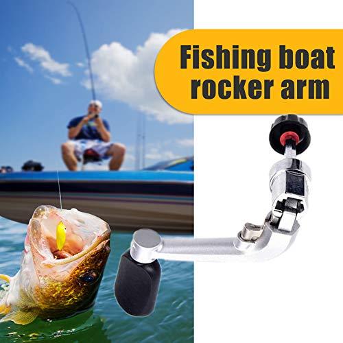 Fishing Reel Handle, Rotatable Knob Power Handle, Metal Rocker Arm Grip for Fishing Reel Nonslip Grip, Spinning Reel Replacement Cranks(M)
