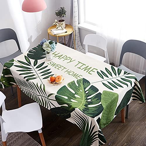 PhantasyIsland.com Mantel Rectangular Vintage de Madera de Grano de LinoCocina Decorativa, Mantel a Prueba de Polvo de 120 * 120cm