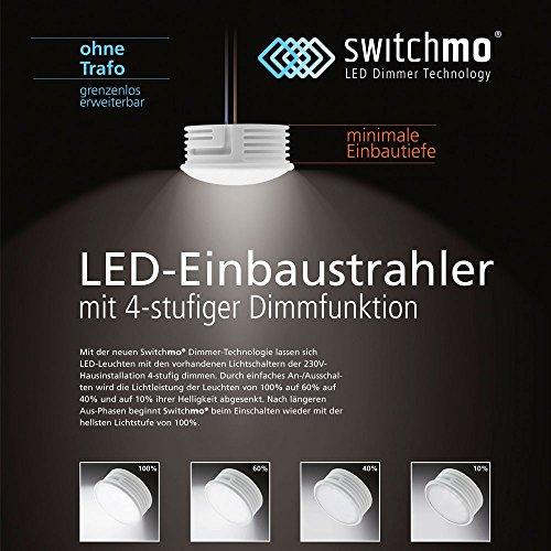 LED Switchmo dimmbares Leuchtmittel für Spots 350lm 5,5 W warmweiss