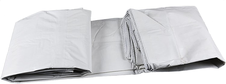 Awnings Tarpaulin Rainproof Sunscreen Tear-Resistant Poncho Truck rain Cover Tarpaulin Plastic Tarpaulin Thickening Dual-use (color   White, Size   3  4m)