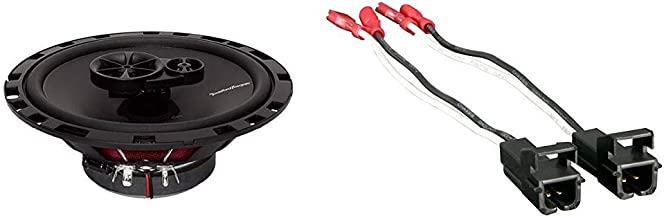 $47 » Rockford Fosgate R165X3 Prime 6.5-Inch Full-Range 3-Way Coaxial Speaker - Set of 2 & Metra 72-4568 Speaker Harness for Sel...